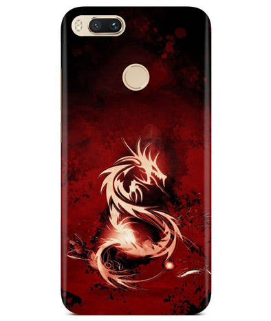 Red Chinese Dragon Redmi A1 Cover