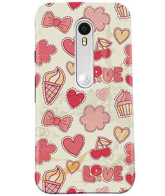 Girly Pink Moto G3 Cover
