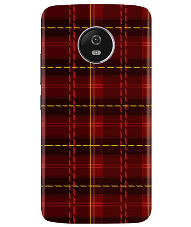 Check Fabric Moto G5 Plus Cover