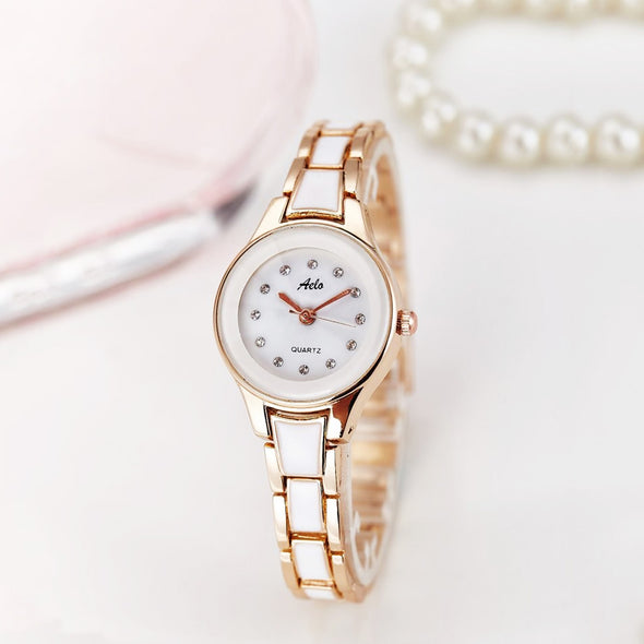 Ladies' Rose Gold Metal Watch - Aelo
