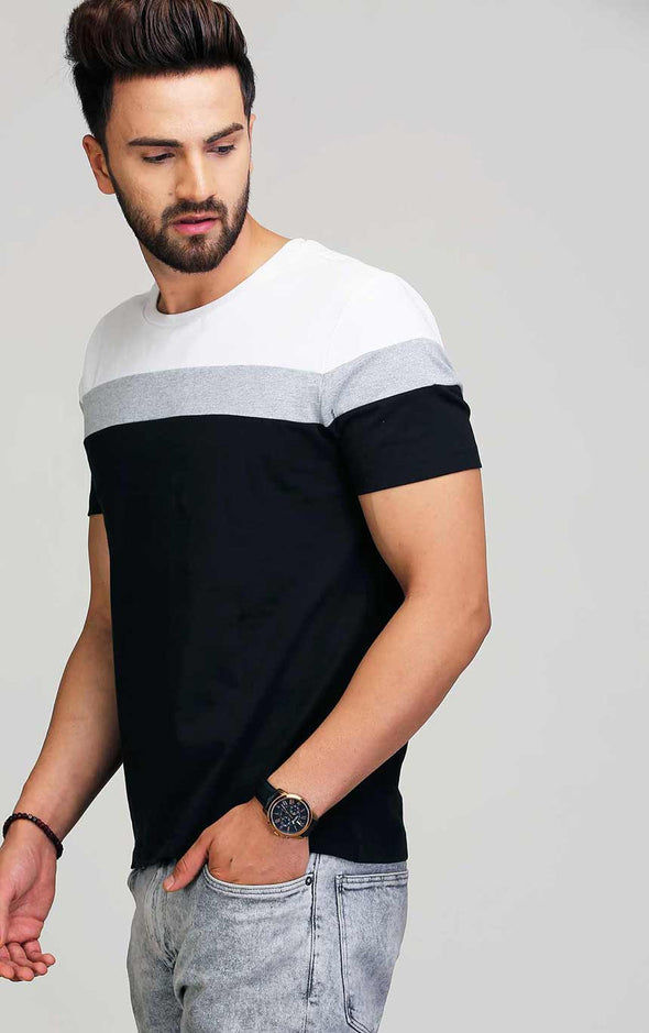 AELO Round Neck Casual Men's T Shirt
