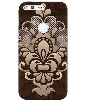 Brown Damask Google PixelCover