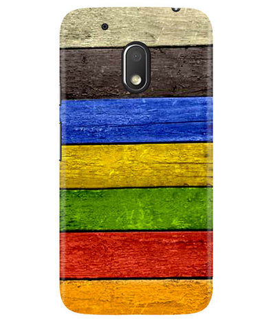 Coloured Wood Moto G4 Play Cover
