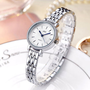 Ladies Silver Chain Watch- Aelo