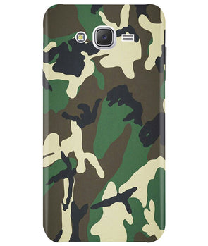 Green Camouflage Samsung J7 2015 Cover