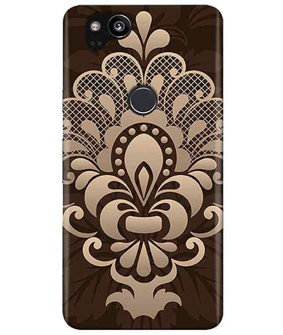 Brown Damask Google Pixel 2 Cover