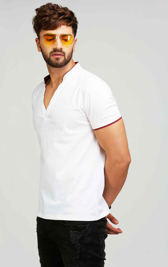 V Neck Collar T shirt