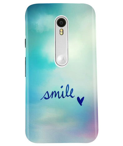 Just Smile Moto G3 Cover
