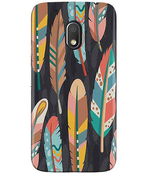 Colorful Feathers MOTO G4 PLAY Cover