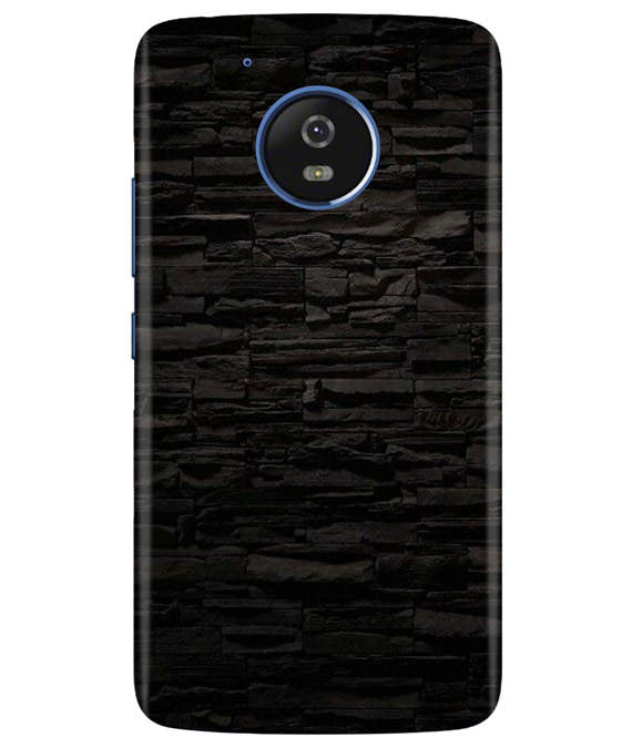 Black Stone Wall Moto G5 Cover