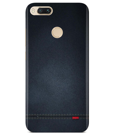 Black Denim Redmi A1 Cover