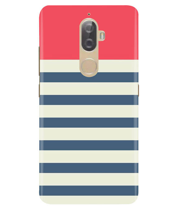 Cream Stripes Lenovo K8 Plus Cover