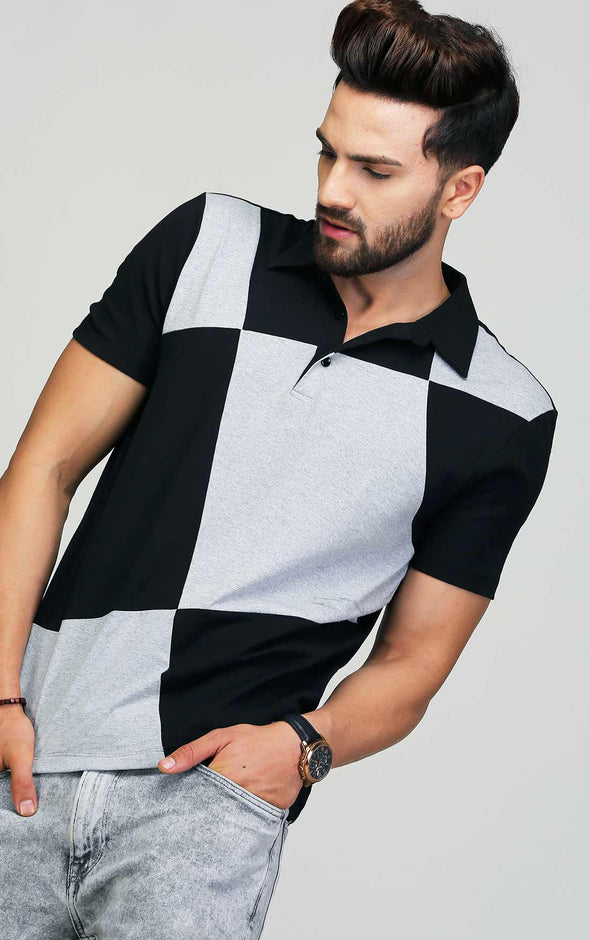 Zigzag Black And Grey T Shirt