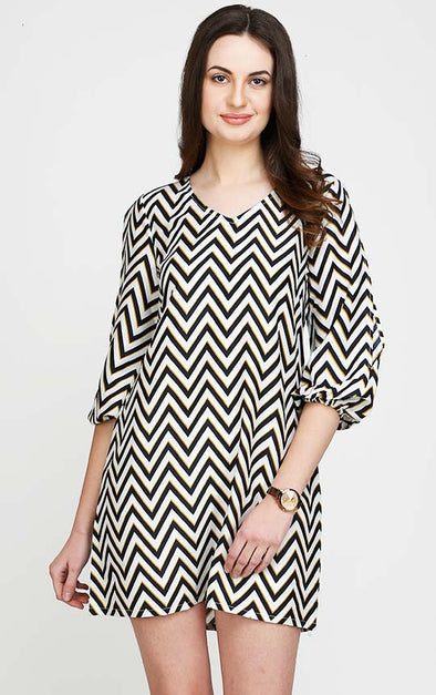 Zigzag Pattern Dress