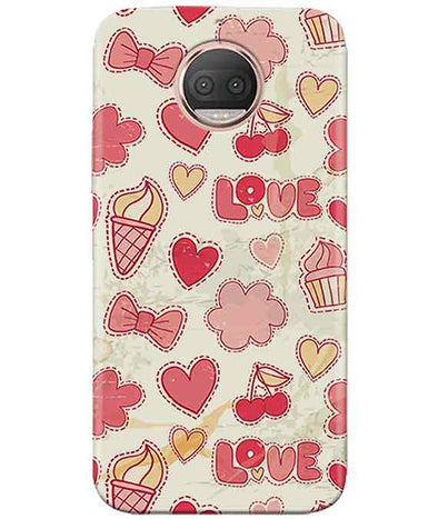 Girly Pink Moto G5s PlusCover