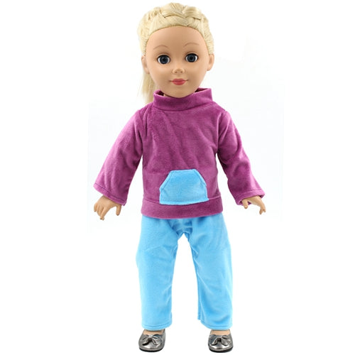 American Girl Dolls Clothing Pink Shirt Blue Trousers Set Clothes Set of American Girl Doll Dress Accessories 2 Colors MG82 95