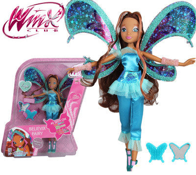 Believix Fairy Winx Club Doll rainbow colorful girl Action Figures Fairy Bloom Dolls with Classic Toys For Girl Gift
