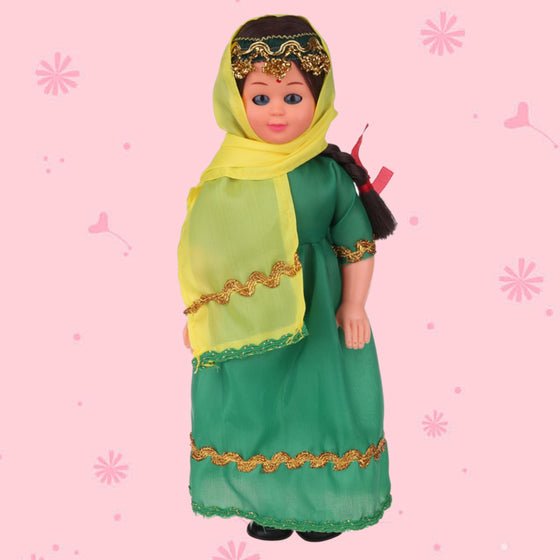 Vivid Baby Toys Ethnic Dolls Beautiful Indian Girls Clothes Lovely Dolls Handwork Toy Children's Best Gift 9.5inch Doll 1009-010
