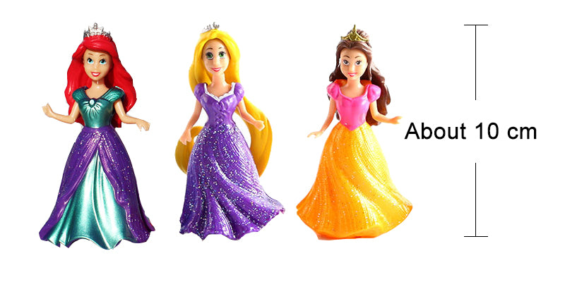 14pcs/set Detachable Dolls 8cm Snow White Princess Cinderella Aurora Belle Model Girls toys Kids ornaments gift dress up dolls#Z