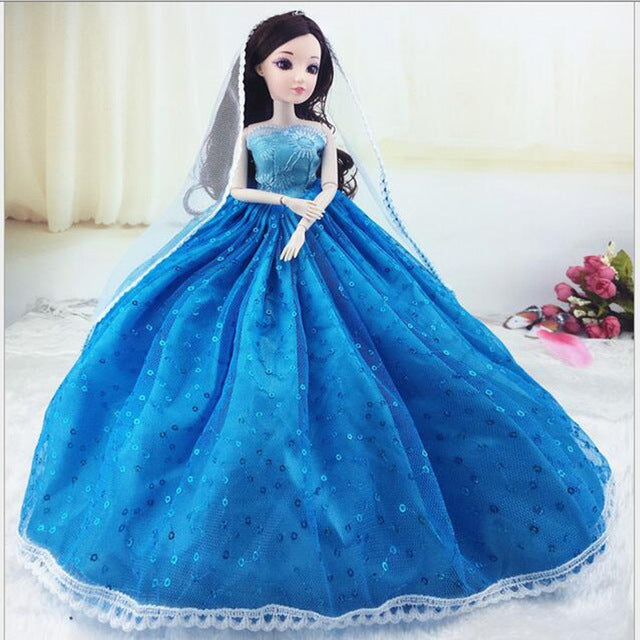 3D simulation eye fashion wedding confused doll opp packing children's day birthday gift toy bride princess girl
