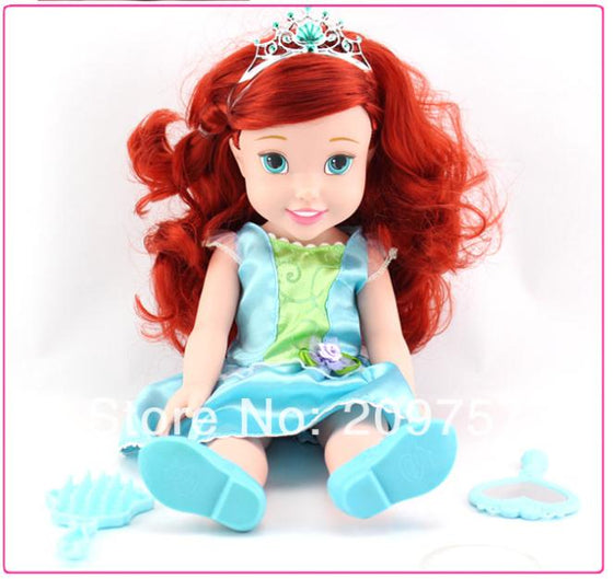 My First Fairy Tales Princess Ariel Toddler Doll Gift for Girls Baby Toy 34cm Loose