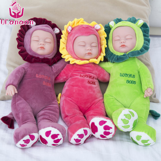 16.5 Inch Stuffed Toys Kawaii Baby Sleep Reborn Doll Toys For Children Silicone Alive Babies Lifelike Kids Toys juguetes