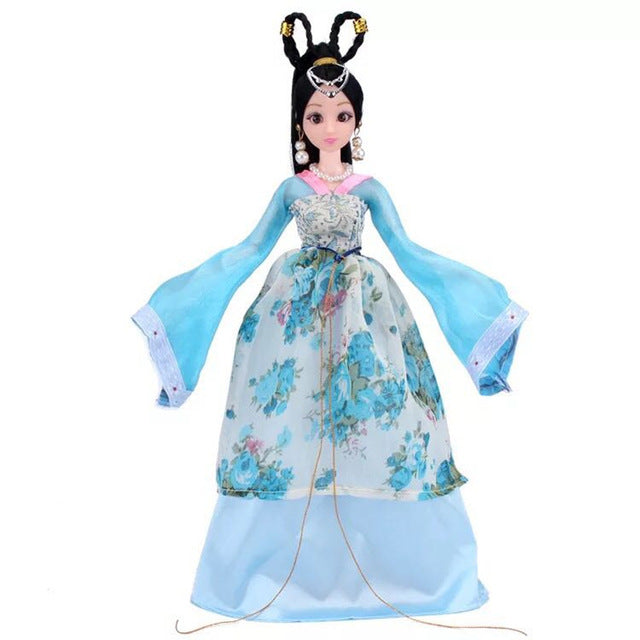 (AOSST)2Color High-quality Cute 3D Eye multi-joint Chinese Ancient Costume Doll Suit Gift Clothing Girl Toys