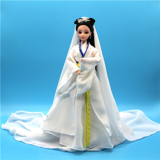 Handmade Doll 30CM Lady White Snake Doll 12 Jointed Chinese Ancient-Costume Dolls Bjd 1/6 Doll Kids Toys for Girls Birthday Gift