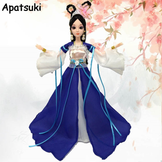 Doll Accessories Cosplay Traditional Chinese Ancient Beauty Doll Dress For Barbie Dolls Party Dress Evening Dresses Clothes