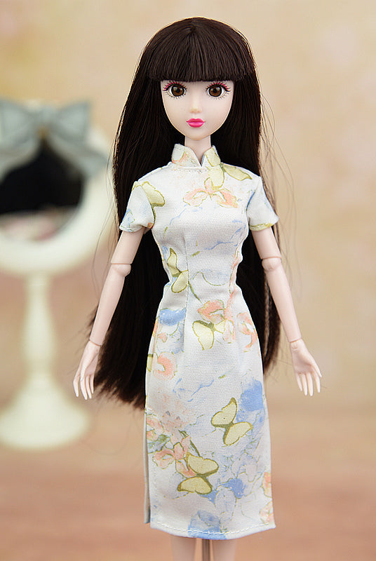 Doll Accessory Cosplay Butterfly Dress Clothes For Barbie Doll Cheongsam Chinese Dress Vestido Qipao Dresses For Blythe 1/6 Doll