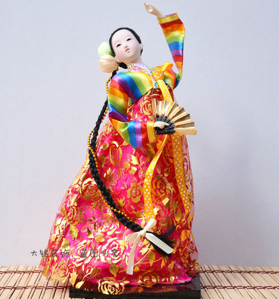 Decoration Arts crafts girl gifts get married Korean folk doll doll Korean Korean silk Home Furnishing decorative gifts crafts d