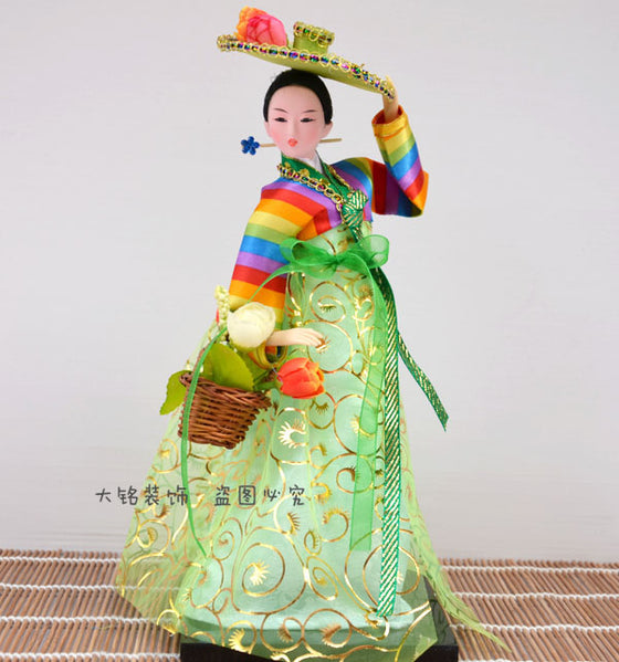 Decoration Arts crafts girl gifts get married Silk doll gifts crafts silk doll Korean Korean character display technology Decora