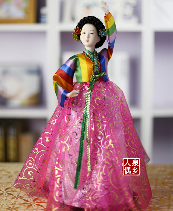 Decoration Arts crafts girl gifts get married Home Furnishing ornaments product Korea doll Korean restaurant Decor hanbok crafts