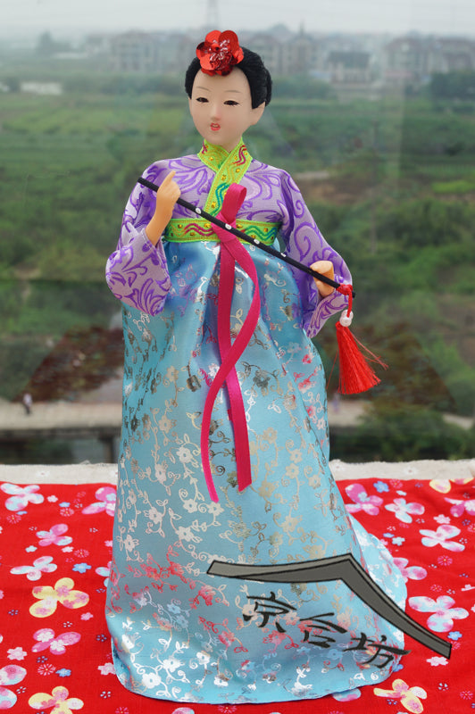 Decoration Arts crafts girl gifts get married South Korea silk costume hanbok doll desktop ornaments Korean wedding gift gift bi
