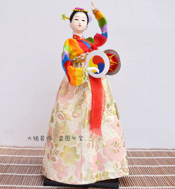 Decoration Arts crafts girl gifts get married South Korea dolls handicrafts silk 12 inch doll Home Furnishing Korean hanbok cuis