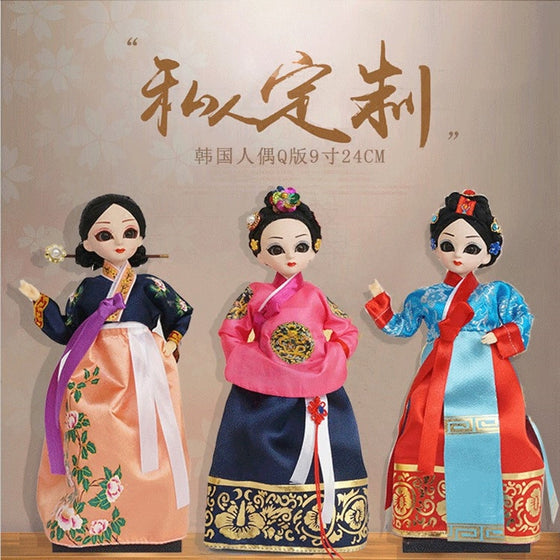 Decoration Arts crafts girl gifts get married 1 shipping Q version of the cartoon people 24CM Korean folk dolls Home Furnishing