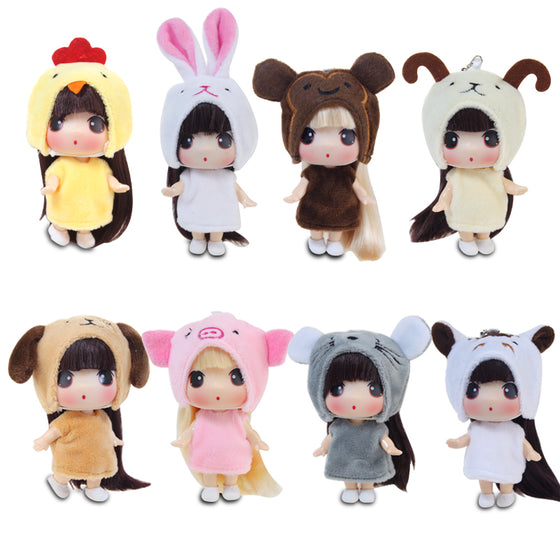 Korean DDUNG Twelve Zodiac Girl Toys Mini Princess Simulation Cute Doll