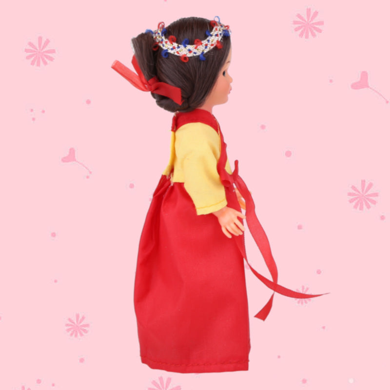 Children's Gift Doll Mini Doll Korean Kawaii Woman Ethnic Clothes 5.5inch Baby Cute Ethnic Doll Kid Toys for Girls/Boys 1001-006