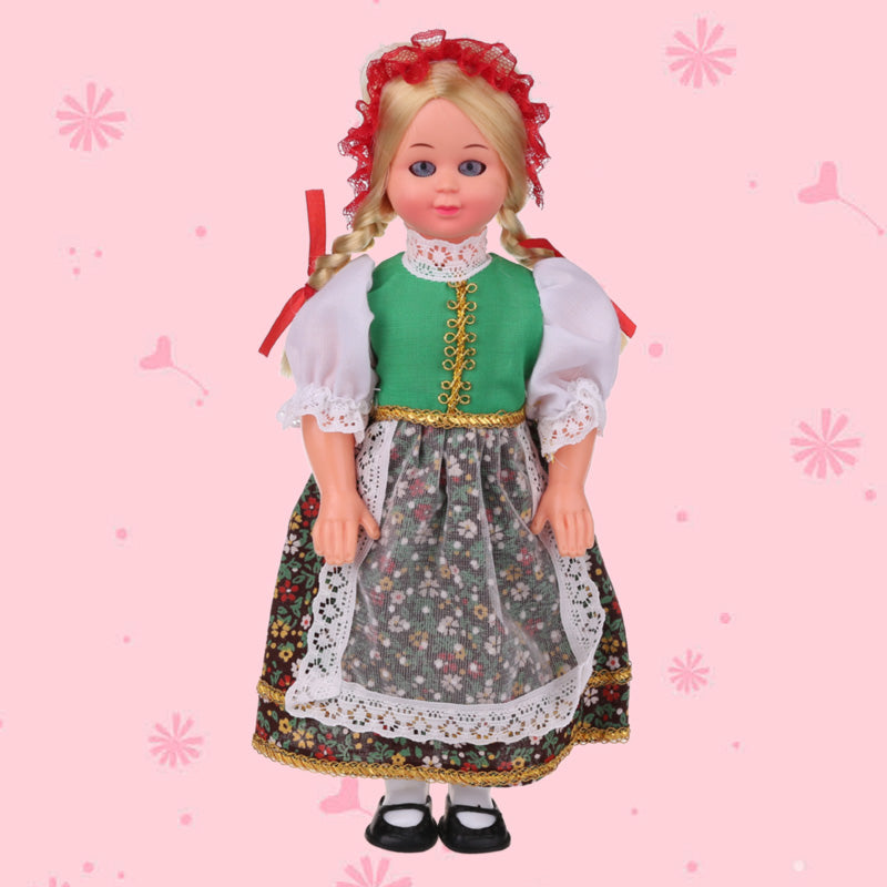 7.5inch Baby Ethnic Dolls Poland Woman Clothes Hot Mini Girls Dolls Children's Gift International Kid Toys Ethnic Dolls 1003-018