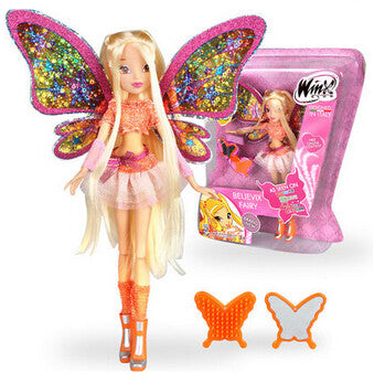 J003 Big Size Winx Club Doll Believix Fairy&Lovix Fairy rainbow girl Fairy Bloom Doll Classic Toy girl's doll for birthday gift