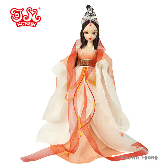 Free shipping 1/6 29cm 11inch Chinese beautiful Ancient Costume doll Cloud fairy Kurhn doll Toys for girls Children's Gifts