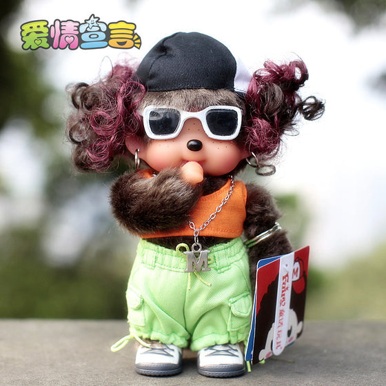 Free shipping cute 20cm plush doll for children chinese brand fairy tale monchhichi monchichi-20cm monchhichi girl