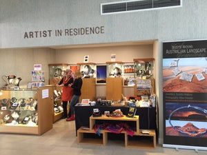 The Artist in Residence area at Mingkiri Gallery, Desert Gardens Hotel, Ayers Rock Resort