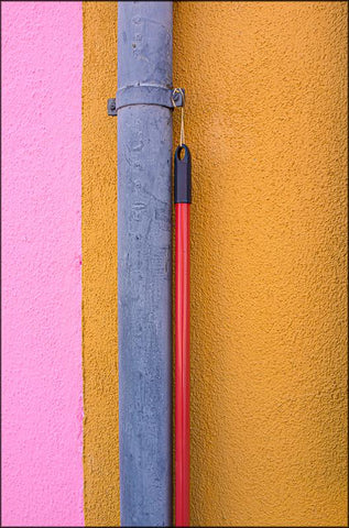 Broom handles in Burano, Italy by Mike Fewster