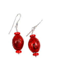 Big Red Earrings