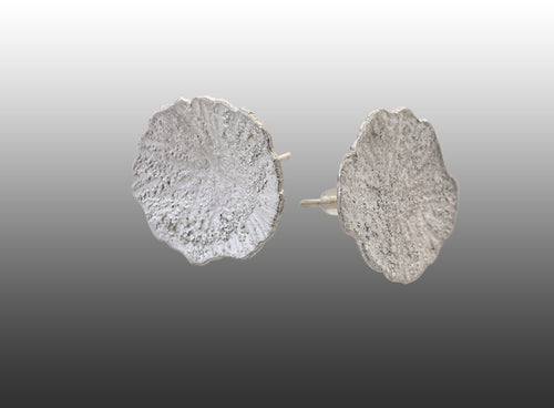 Coin Spot Lichen Stud Earrings