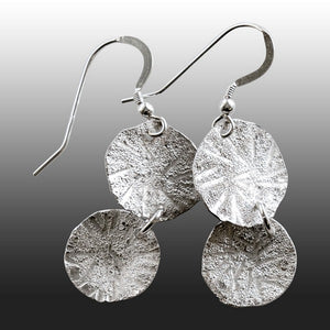 Coin Spot Lichen Drop Earrings