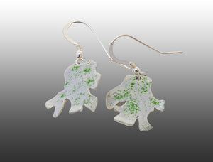 Lettuce Leaf Lichen Earrings
