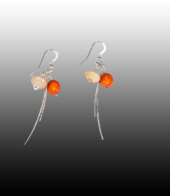 Dragonfly. Orange Earrings