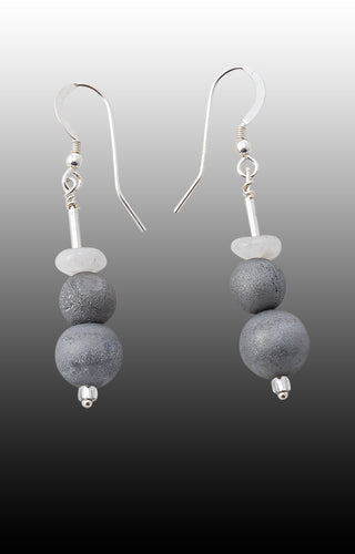 Sounds Of Silence. Moonstone Earrings